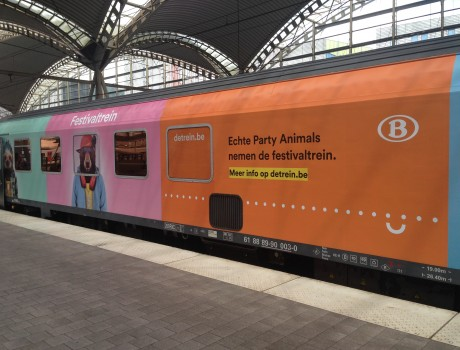 Bananas activates the NMBS festivaltrain